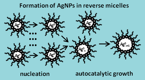Formation of AgNPs in reverse micelles