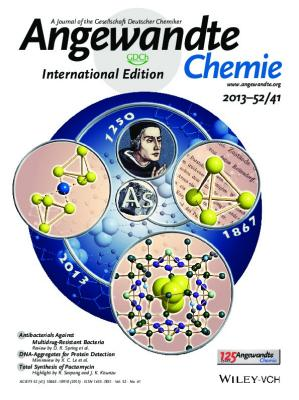 The cover of Angew. Chem. Int. Ed., 2013, V.52, Issue 41: Stabilization of Tetrahedral P4 and As4 Molecules